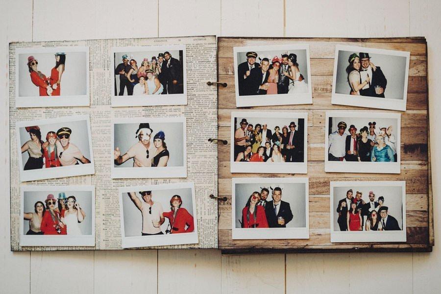 libro de firmas artesanal con fotos polaroid